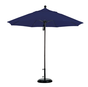 9' Aluminum Market Umbrellas with Brushed Silver Frame