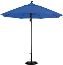9 foot Sunbrella A aluminum market umbrella with bronze pole
