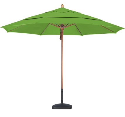 11 foot Pacifica wood market umbrella