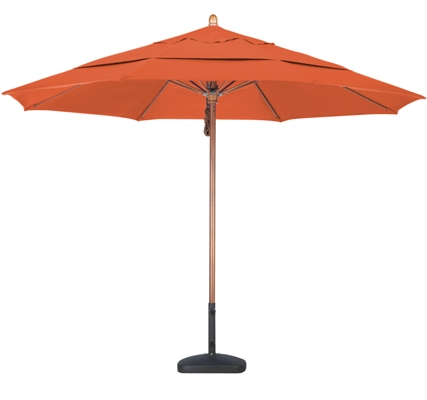 11 foot Sunbrella AA wood market umbrella