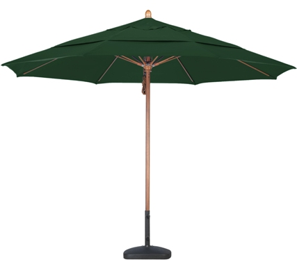 11 foot Sunbrella A wood market umbrella