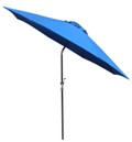 Auto tilt 9 foot market umbrella with auto tilt feature