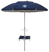 SunRaker beach umbrella with integrated beach table