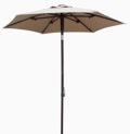 Bistro Umbrellas with chocolate brown frames
