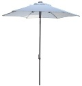 Bistro Patio Umbrellas with brushed silver frames