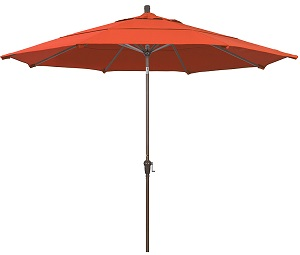 11 foot olefin aluminum patio umbrella with crank and Auto Tilt