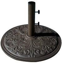 50 pound cast iron market umbrella base in bronze
