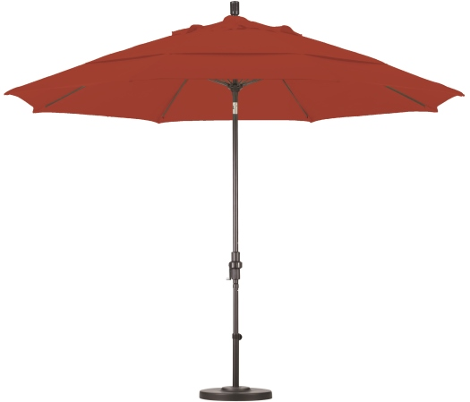 11 foot olefin aluminum market umbrella with bronze pole