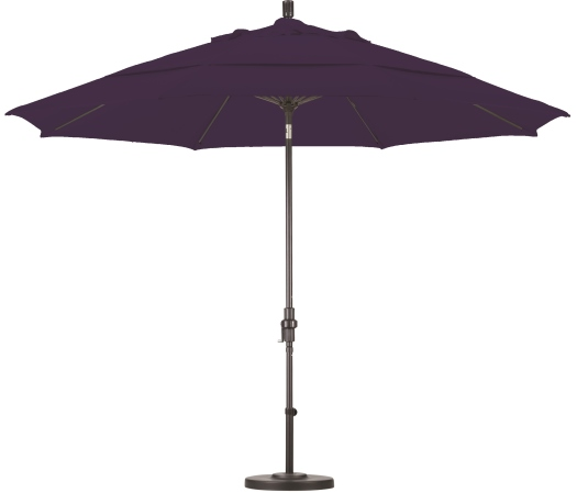 11 foot pacifica aluminum patio table umbrella with bronze pole