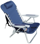 Hi-Back Backpack Aluminum Beach Chair (item sc529)
