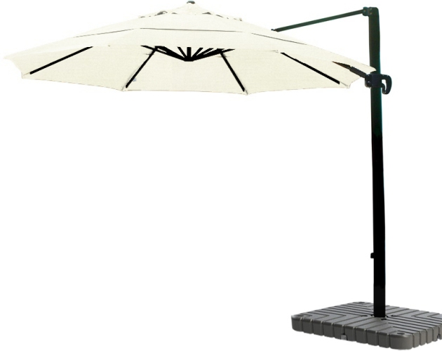 11 foot Cantilever Sunbrella A aluminum market umbrella with bronze pole