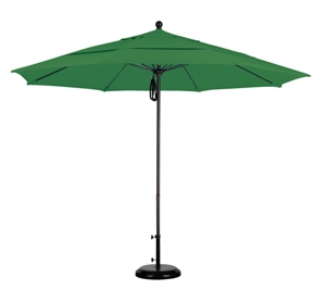 11 foot olefin aluminum patio umbrella with bronze pole
