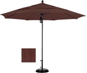 9 foot olefin aluminum market umbrella with matted white frame