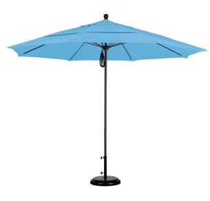 11 foot pacifica aluminum patio table umbrella with matted white pole