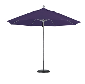 9 foot pacifica aluminum patio umbrella with matted white pole
