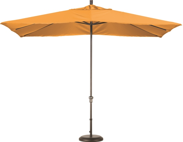 11 foot rectangular sunbrella A aluminum market umbrella with bronze pole