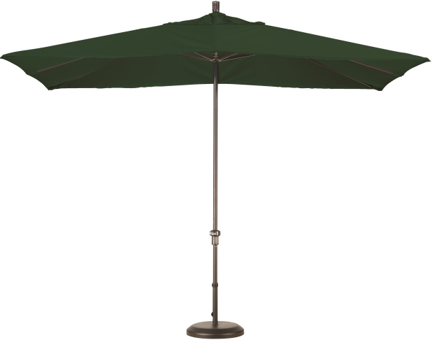 11 foot sunbrella A aluminum rectangular patio umbrella with bronze pole