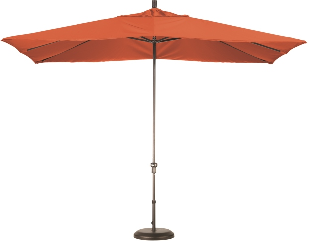 11 foot rectangular sunbrella AA aluminum market umbrella with bronze pole
