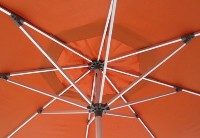 11' Commercial grade aluminum market patio umbrellas with silver frames