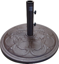 45 pound cast iron market umbrella base in bronze